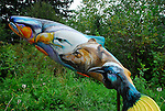 Salmon artwork, Portland Zoo
