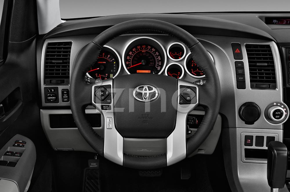 Car pictures of steering wheel view of a 2014 Toyota Sequoia SR5 5 Door SUV