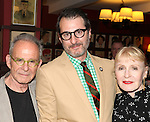Roon Rifkin, Jon Robin Baitz & Iva Rifkin.attending the celebration for Jon Robin Baitz receiving a Caricature on Sardi's Hall of Fame in New York City on 5/31/2012