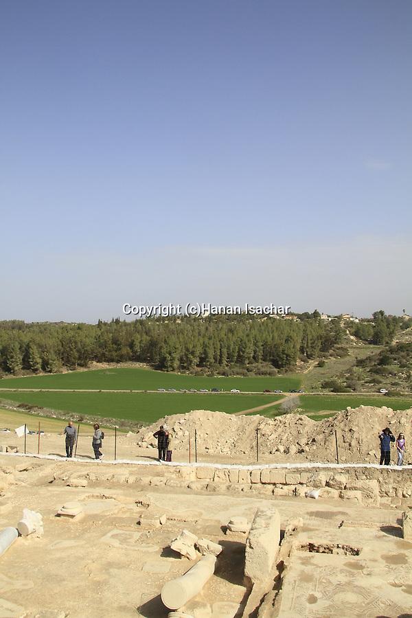 Israel, Shephelah, ruins of a byzantine church in Hurvat Midras