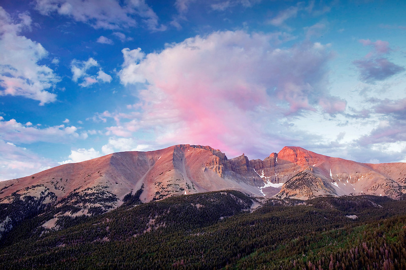 Wheeler Peak at sunrise. Great Basin National Park, Nevada