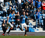 Nicky Law takes the acclaim from Lee McCulloch after scoring to rescue a point for Rangers