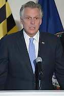 Arlington, VA - February 26, 2014: Virginia Governor Terry McAuliffe speaks during a news conference following a regional governor's meeting with Maryland Governor Martin O'Malley and District of Columbia Mayor Vincent Gray. (Photo by Don Baxter/Media Images International)