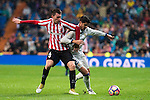 Real Madrid's Alvaro Morata and Athletic de Bilbao's Aymeric Laporte during La Liga Match at Santiago Bernabeu Stadium in Madrid. October 23, 2016. (ALTERPHOTOS/Borja B.Hojas)
