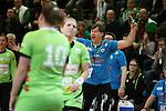 Trainer Aleksander Knezevic (Frisch Auf Goeppingen Frauen) Mimik / starker Gesichtsausdruck / Emotion. aergerlich / &auml;rgerlich, sauer, w&uuml;tend / wuetend. schreit. tobt.<br />  im Spiel TPSG FA Goeppingen - VL Koblenz / Weibern.<br /> <br /> Foto &copy; P-I-X.org *** Foto ist honorarpflichtig! *** Auf Anfrage in hoeherer Qualitaet/Aufloesung. Belegexemplar erbeten. Veroeffentlichung ausschliesslich fuer journalistisch-publizistische Zwecke. For editorial use only.