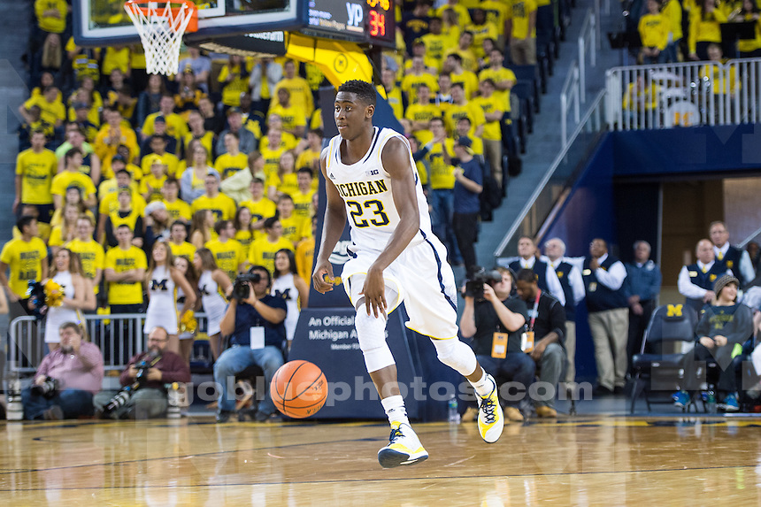 The University of Michigan men's basketball team falls to NJIT, 72-70, at Crisler Center in Ann Arbor, Mich. on December 6, 2014.