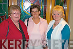 Pictured at the Mid Kerry Farmers Dance in the Heights Hotel, Killarney on Saturday night were Kitty McCarthy, Glenbeigh, Julie Bowes, Killarney and Betty O'Shea, Glenbeigh.   Copyright Kerry's Eye 2008