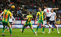Bolton Wanderers' Jason Lowe shoots at goal <br /> <br /> Photographer Andrew Kearns/CameraSport<br /> <br /> The EFL Sky Bet Championship - Bolton Wanderers v West Bromwich Albion - Monday 21st January 2019 - University of Bolton Stadium - Bolton<br /> <br /> World Copyright © 2019 CameraSport. All rights reserved. 43 Linden Ave. Countesthorpe. Leicester. England. LE8 5PG - Tel: +44 (0) 116 277 4147 - admin@camerasport.com - www.camerasport.com
