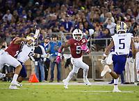 Stanford, CA - October 5, 2019: Connor Wedington at Stanford Stadium. The Stanford Cardinal beat the University of Washington Huskies 23-13.