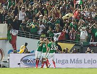 Pasadena, CA - Thursday June 09, 2016: Oribe Peralta, Mexico Fans during a Copa America Centenario Group C match between Mexico (MEX) and Jamaica (JAM) at Rose Bowl Stadium.