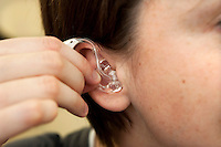 Inserting your hearing aid
