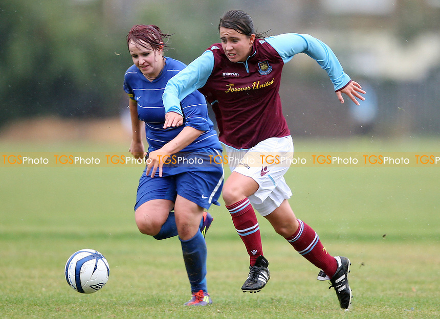 Francesca Tye of West Ham in action - West Ham United Ladies Reserves vs Cardiff City Ladies Reserves - FA Premier Reserves Division One South at Flanders Playing Fields, East Ham - 23/09/12 - MANDATORY CREDIT: Rob Newell/TGSPHOTO - Self billing applies where appropriate - 0845 094 6026 - contact@tgsphoto.co.uk - NO UNPAID USE.