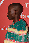 Model Grace Bol arrives at The Fashion Group International's Night of Stars 2017 gala at Cipriani Wall Street on October 26, 2017.