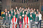 The boys and girls of Lispole National School who were confirmed on Friday in St Mary's Church, Dingle by Bishop Bill Murphy. Pictured here with Fr Eugene Kelly, Bishop Bill Murphy and Canon Tom Looney.   Copyright Kerry's Eye 2008