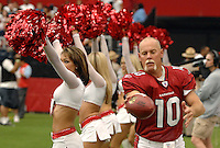 Aug 18, 2007; Glendale, AZ, USA; Arizona Cardinals punter Scott Player (10) warms up on the sidelines in the second half against the Houston Texans at University of Phoenix Stadium. Mandatory Credit: Mark J. Rebilas-US PRESSWIRE Copyright © 2007 Mark J. Rebilas