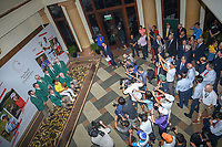 An overhead view of Takumi KANAYA (JPN) with the &quot;Green Jackets&quot; from Augusta after winning the Asia-Pacific Amateur Championship, Sentosa Golf Club, Singapore. 10/7/2018.<br /> Picture: Golffile | Ken Murray<br /> <br /> <br /> All photo usage must carry mandatory copyright credit (&copy; Golffile | Ken Murray)