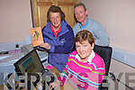 WEBSITE: Getting ready to launch the new Ardfert community website at Ardfert Community Centre last week were Bernie Kearney (front) and back, l-r: Philomena Stack and Pat Murphy.