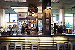 The bar at Cow, Pig, Bun Restaurant in Kihei, Maui, Hawaii, USA
