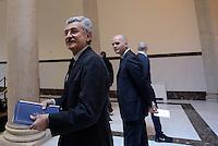 """Roma, 27 Novembre 2015.<br /> Massimo D'Alema<br /> Festival della Legalità: """"Io ho paura """"<br /> Convegno su immigrazione e terrorismo<br /> presso il Centro multimediale dell'Università degli studi Guglielmo Marconi"""