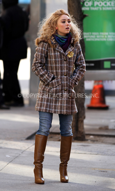 WWW.ACEPIXS.COM....January 22 2013, New York City....Actress AnnaSophia Robb on the set of the new TV series 'The Carrie Diaries' on January 22 2013 in New York City....By Line: Zelig Shaul/ACE Pictures......ACE Pictures, Inc...tel: 646 769 0430..Email: info@acepixs.com..www.acepixs.com