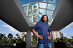 E.J. Biggers photographed at his Aventura, Florida condo