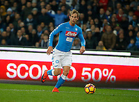 Ivan Strinic  during the  italian serie a soccer match,between SSC Napoli Sassuolo       at  the San  Paolo   stadium in Naples  Italy , November 28, 2016
