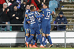 Getafe's players celebrate goal during La Liga match. March 18,2016. (ALTERPHOTOS/Acero)