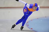 SCHAATSEN: HEERENVEEN: Thialf, 4th Masters International Speed Skating Sprint Games, 25-02-2012, Renate Jeppsson (F35) 3rd, ©foto: Martin de Jong