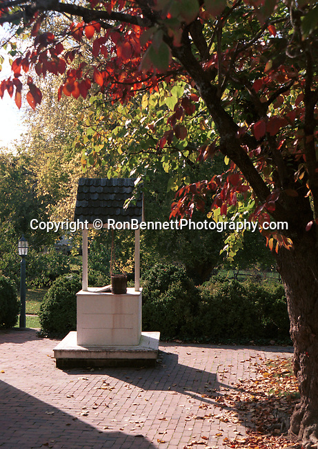 Water well with fall leaves Colonial Williamsburg, wishing well Williamsburg, autumn leaves, leaf, leaves, autumn leaves, bucket well, Fine Art Photography by Ron Bennett, Fine Art, Fine Art photography, Art Photography, Copyright RonBennettPhotography.com ©