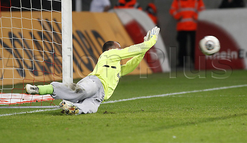 21.10.2013. Cologne, Germany.  FC Cologne versus 1860 Munich. Gabor Kiraly saves a Penalty