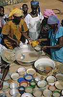 """Wean-flour is made from millet, sorgum, soja, part of baobab fruit (Adansonia digitata) and a small quantity of smoked fish.Mixed in boilled water it become a very testy  nourishment for the children."