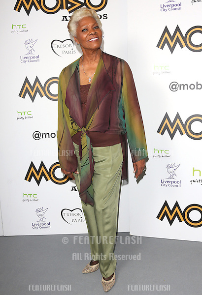 Dionne Warwick in the press room for The MOBO awards 2012 held at the Echo Arena, Liverpool. 03/11/2012 Picture by: Henry Harris / Featureflash