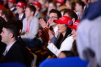 National Harbor, MD - February 23, 2018: Attendees applaud President Donald Trump as he speaks at the Conservative Political Action Conference (CPAC) at the Gaylord National Hotel in National Harbor, MD, February 23, 2018. (Photo by Don Baxter/Media Images International)