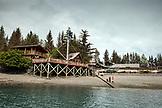 USA, Alaska, Homer, China Poot Bay, Kachemak Bay, view of the Kachemak Bay Wilderness Lodge from the water