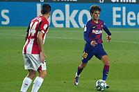 23rd June 2020, Camp Nou, Barcelona, Spain; La Liga Football league, FC Barcelona versus Athletico Bilbao;  Riqui Puig of Barcelona takes on Dani Garcia of Bilbao