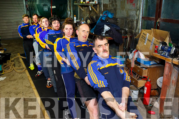 A team from West Kerry travel a 12 hour round trip twice a week to take part in Tug of War training. Pictured were: Tommy Griffin, Declan Griffin, Katherina Griffin, Christopher Griffin, Jason Griffin, Steven Griffin, Timmy Kelliher and PJ Griffin.
