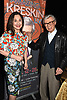 Joanna Bonaro and Kreskin attend &quot;The Amazing Kreskin&quot; <br /> Off Broadwy show on April 11, 2018 at the Lion Theatre in New York City. <br /> <br /> photo by Robin Platzer/Twin Images<br />  <br /> phone number 212-935-0770