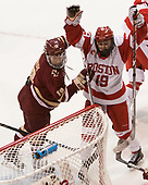 Makenna Newkirk (BC - 19), Rebecca Leslie (BU - 19) - The Boston College Eagles defeated the Boston University Terriers 3-2 in the first round of the Beanpot on Monday, January 31, 2017, at Matthews Arena in Boston, Massachusetts.