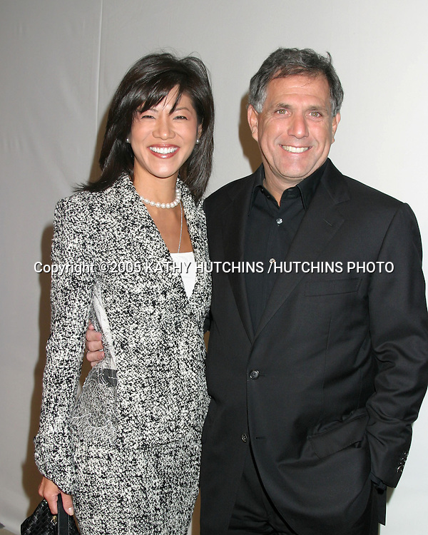 ©2005 KATHY HUTCHINS /HUTCHINS PHOTO.TELEVISION CRITICS ASSOCIATION PRESS TOUR PARTY.CBS AND UPN.LOS ANGELES, CA.JANUARY 18, 2005..JULIE CHEN.LES MOONVES.