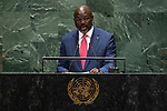 General Assembly Seventy-fourth session, 5th plenary meeting<br /> <br /> His Excellency George Manneh Weah, President, Republic of Liberia