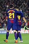 UEFA Champions League 2017/2018.<br /> Round of 16 2nd leg.<br /> FC Barcelona vs Chelsea FC: 3-0.<br /> Andre Gomes &amp; Luis Suarez.