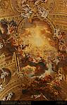Nave Vault Trompe-l'oeil Frescoes Triumph of the Name of Jesus Giovanni Battista Gaulli Antonio Raggi 1679 Chiesa del Gesu Rome