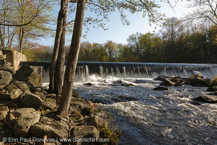 Wiswall Dam site along the Lamprey River in Durham, New Hampshire.