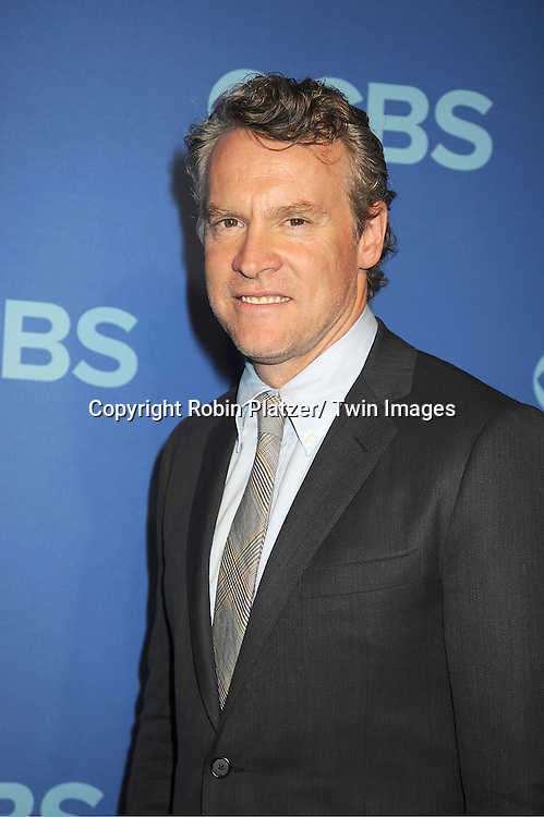 """cast of """"Hostages""""   Tate Donovan, attend the CBS Prime Time 2013 Upfront on May 15, 2013 at Lincoln Center in New York City."""