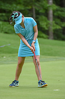 Luci Li (a)(USA) drains her putt on 13 during round 2 of the U.S. Women's Open Championship, Shoal Creek Country Club, at Birmingham, Alabama, USA. 6/1/2018.<br /> Picture: Golffile | Ken Murray<br /> <br /> All photo usage must carry mandatory copyright credit (&copy; Golffile | Ken Murray)