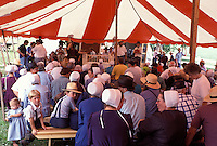 auction, Amish, Holmes County, OH, Ohio, Auction at an Amish farm in Holmes County, Ohio.