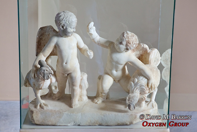 Infant Gods, Erotes, In Cock-Fight, Second Century AD., Istanbul Archaeology Museum