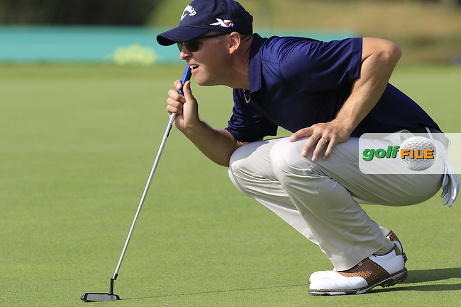 Niclas Fasth (SWE) on the 14th hole during Thursday's Round 1 of the 2016 Portugal Masters held at the Oceanico Victoria Golf Course, Vilamoura, Algarve, Portugal. 19th October 2016.<br /> Picture: Eoin Clarke | Golffile<br /> <br /> <br /> All photos usage must carry mandatory copyright credit (&copy; Golffile | Eoin Clarke)