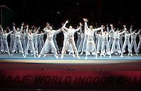 ISTAMBUL, TURQUIA, 09 DE MARCO 2012 - MUNDIAL DE ATLETISMO INDOOR - <br /> Atores se apresentam durante cerimonia de abertura do Mundial de Atlestismo Indoor na Arena Atakoy em Istambul na Turquia, nesta sexta-feira, 09 marco. (FOTO: BERND THISSEN  / BRAZIL PHOTO PRESS).