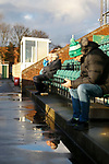 Early arrivals at Croft Park. Blyth Spartans v Brackley Town, 30112019. Croft Park, National League North. Photo by Paul Thompson.